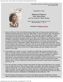 Intersections: Review, Airborne Dreams: 'Nisei' Stewardesses and Pan A PowerPoint PPT Presentation