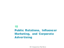 Public Relations, Influencer Marketing, and Corporate Adver PowerPoint PPT Presentation
