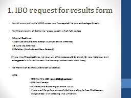 1. IBO request for results form PowerPoint PPT Presentation