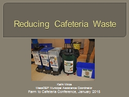 Reducing Cafeteria Waste PowerPoint PPT Presentation