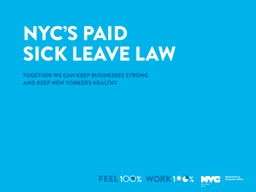 """"""" The benefits of paid sick leave extend far beyond the p"""