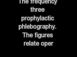 The frequency three prophylactic phlebography. The figures relate oper