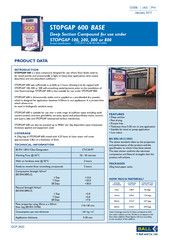 STOPGAP 600 is a base compound designed for use where �oor
