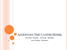 Asserting The Canter Model