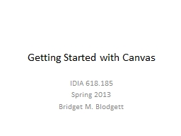 Getting Started with Canvas PowerPoint PPT Presentation