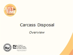 Carcass Disposal PowerPoint PPT Presentation