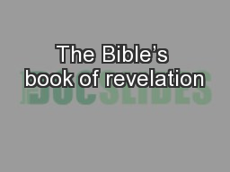 The Bible's book of revelation