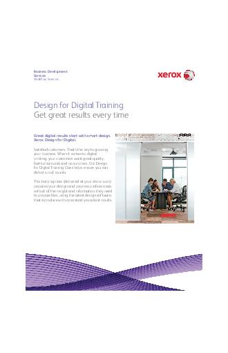 Business Development Services Work ow Services Great digital results start with smart design