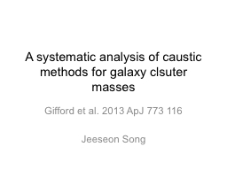 A systematic analysis of caustic methods for galaxy