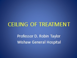 CEILING OF TREATMENT