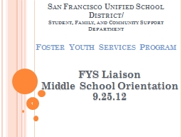 San Francisco Unified School District/ PowerPoint PPT Presentation