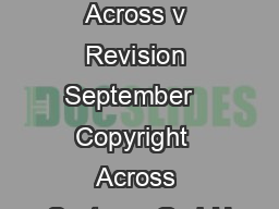 System Requirements Across v Revision September   Copyright  Across Systems GmbH PDF document - DocSlides