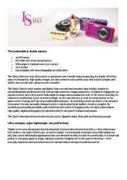 The pocketable & stylish cameraThe Optio LS465 not only offers a host