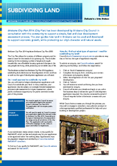 DEVELOPMENT ASSESSMENT FACT SHEET assessment process. The plan guides