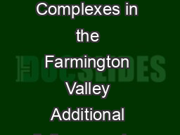 Rev April  Apartment Complexes in the Farmington Valley Additional listings can be found at www