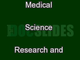 International Journal of Medical Science Research and Practice ...