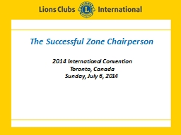 The Successful Zone Chairperson