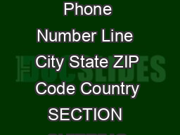 Page  of  Formal Mailing Address Line  Shipping Address Line  Shipping Address Phone Number Line  City State ZIP Code Country SECTION  SHIPPING DETAILS FOR MAILED IN REQUESTS ONLY Delivery Method Tra