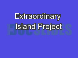 Extraordinary Island Project