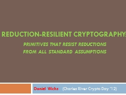 Reduction-Resilient Cryptography:
