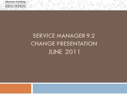 Service Manager 9.2