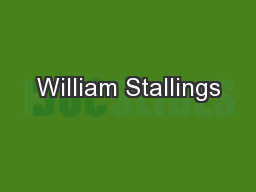 William Stallings