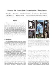 Modulo Camera - Unbounded High Dynamic Range Photography