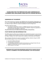 Guidelines for the Preparation and Submission of Substantive Change Re