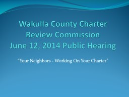 Wakulla County Charter Review Commission
