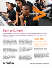 Corporate citizenship is fundamental to Accenture's character and