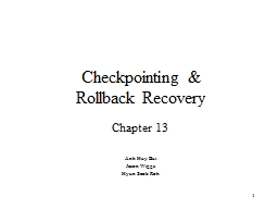 Checkpointing PowerPoint PPT Presentation
