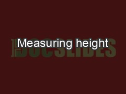 Measuring height