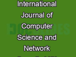 IJCSNS International Journal of Computer Science and Network Security VOL