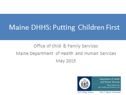 Maine DHHS: Putting Children First