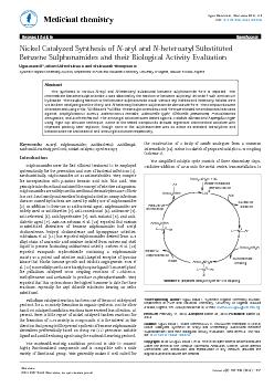 ISSN: 2161-0444 Med chem, an open access journalSynthetic Organic Chem