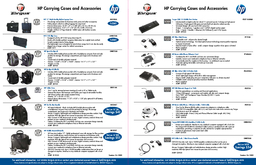 HP Carrying Cases and Accessories HP Part  PEA HP Evolution Lite Nylon Case Toploading case design includes sleeve for an HP