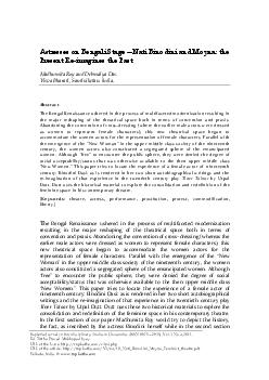 Abstract The Bengal Renaissance ushered in the process of multifacete PDF document - DocSlides