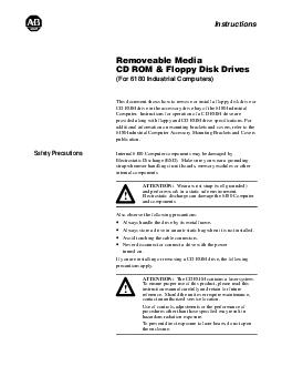 For  Industrial Computers This document shows how to remove or install a floppy disk drive or CD ROM drive in the accessory drive bay of the  Industrial Computer