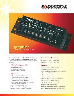 SOLAR LIGHTING CONTROLLERSOLAR LIGHTING CONTROLLER