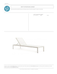 SKIFF OUTDOOR SUN LOUNGER SK1-LOUNGE-WH WHITE $1199SKIFF OUTDOOR SUN L