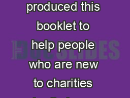 the charity test a brief guide  the charity test a brief guide We have produced this booklet to help people who are new to charities charity law or charity law in Scotland to understand the charity t