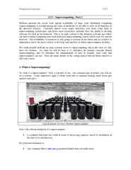 Geophysical Computing L13-2 So, the definition of a supercomputer is r