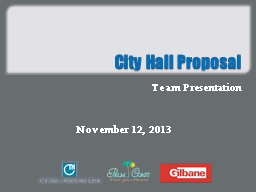 City Hall Proposal PowerPoint PPT Presentation