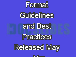 Digital Video InStream Ad Format Guidelines and Best Practices Released May  Ver