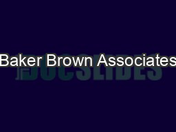 Baker Brown Associates