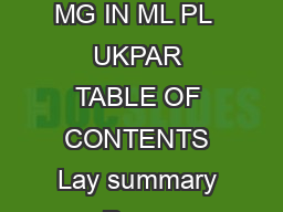 MHRA PAR CODEINE PHOSPHATE INJECTION MG IN ML PL  CODEINE PHOSPHATE INJECTION MG IN ML PL  UKPAR TABLE OF CONTENTS Lay summary Page  Scientific discussion Page  Steps taken for assessment Page  Summa