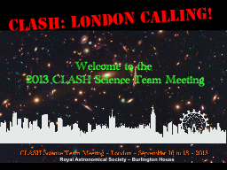 CLASH: London calling!