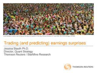 Trading (and predicting) earnings surprises
