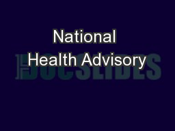 National Health Advisory