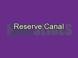 Reserve Canal